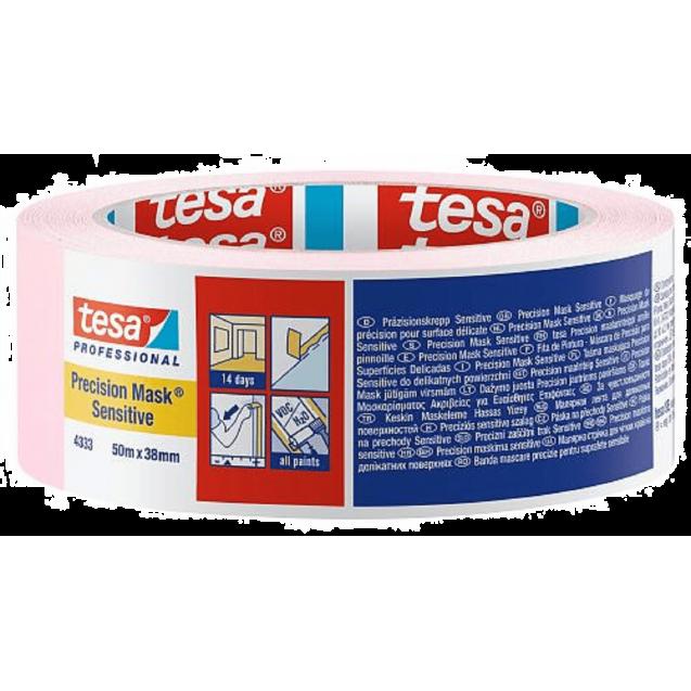 Малярная лента для деликатных поверхностей, розовая 50 м * 38 мм (14 дней) TESA