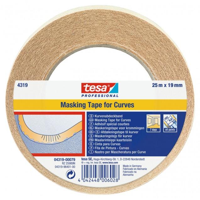 Малярная лента для фигурных линий 25 м * 19 мм (7 дней) TESA