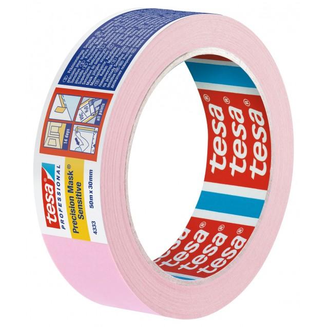 Малярная лента для деликатных поверхностей, розовая 50 м * 30 мм (7 дней) TESA