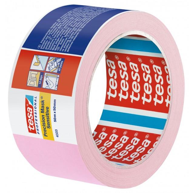 Малярная лента для деликатных поверхностей, розовая 50 м * 50 мм (7 дней)