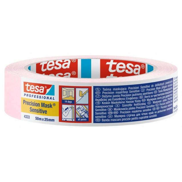 Малярная лента для деликатных поверхностей, розовая 50 м * 25 мм (14 дней) TESA