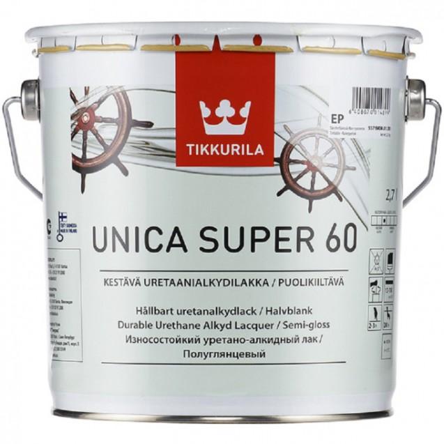 Лак универсальный Tikkurila Unica Super 60 EP полуматовый 2.7 л