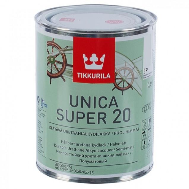 Лак универсальный Tikkurila Unica Super 20 ЕР полуматовый 0.9 л
