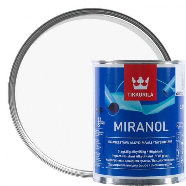 Эмаль тиксотропная Tikkurila Miranol A высокоглянцевая 0.9 л