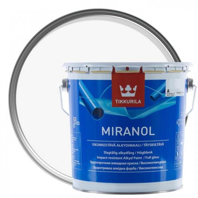 Эмаль тиксотропная Tikkurila Miranol A высокоглянцевая 2.7 л