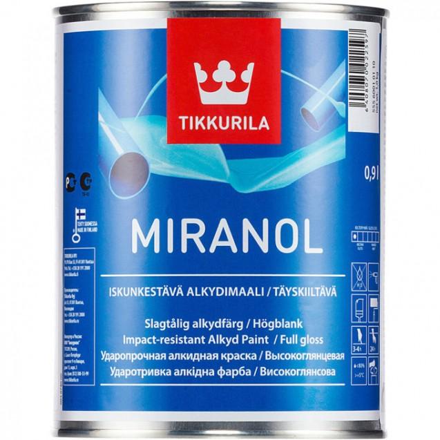 Эмаль тиксотропная Tikkurila Miranol С высокоглянцевая 0.9 л