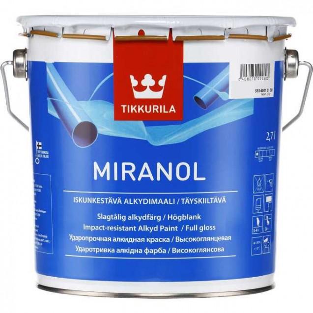 Эмаль тиксотропная Tikkurila Miranol С высокоглянцевая 2.7 л