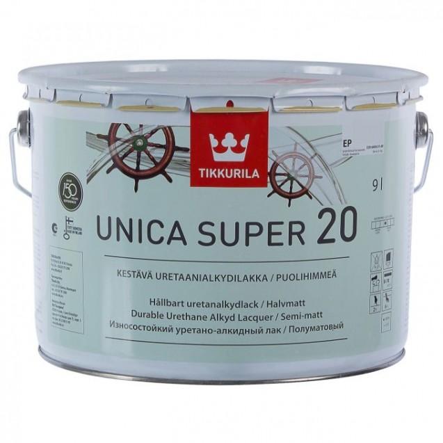 Лак универсальный Tikkurila Unica Super 20 ЕР полуматовый 9 л