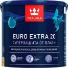 Краска для влажных помещений Tikkurila Euro Extra 20 С полуматовая 2.7 л