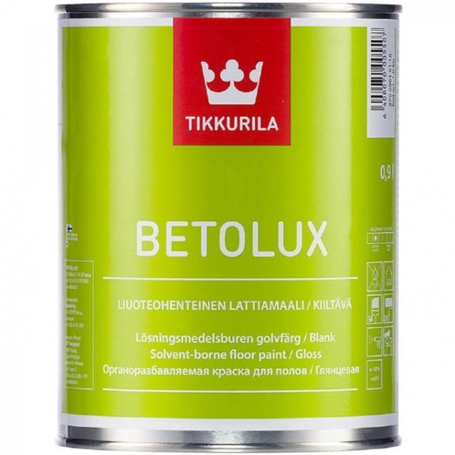 Эмаль для пола Tikkurila Betolux база А глянцевая белая 0.9 л