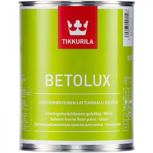 Эмаль для пола Tikkurila Betolux база С глянцевая прозрачная 0.9 л