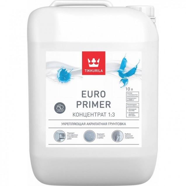 Грунтовка Tikkurila EURO PRIMER концентрат 1:3 10 л