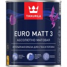 Краска Tikkurila Euro Matt 3 С глубоко-матовая 0.9 л