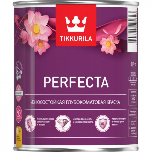 Краска интерьерная износостойкая Tikkurila Perfecta A белая 0.9 л
