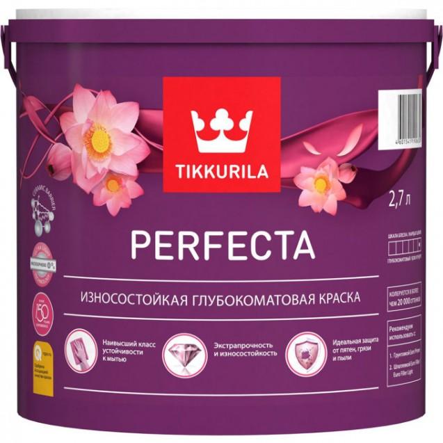 Краска интерьерная износостойкая Tikkurila Perfecta A белая 2.7 л