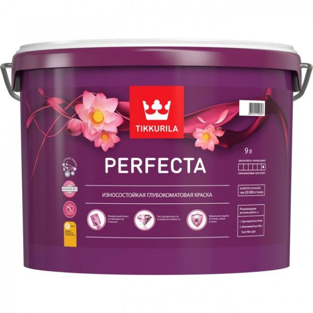 Краска интерьерная износостойкая Tikkurila Perfecta A белая 9 л