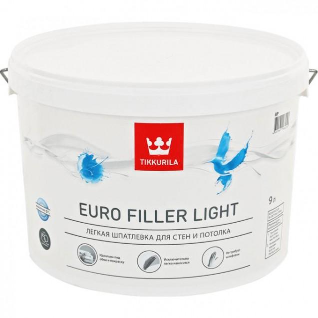 Шпатлевка легкая Tikkurila Euro Filler Light KTA 9 л