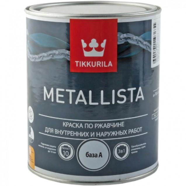 Краска по ржавчине Tikkurila Metallista A глянцевая 2.5 л
