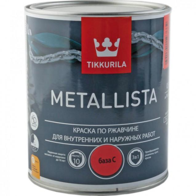 Краска по ржавчине Tikkurila Metallista C глянцевая 0.9 л