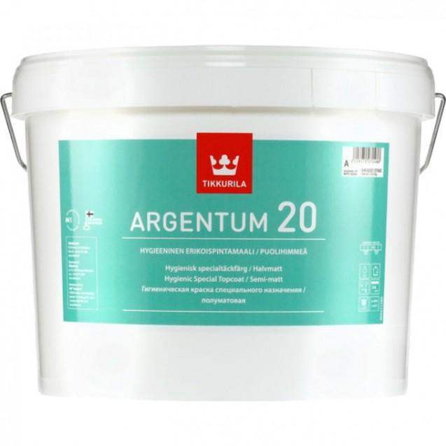 Краска антимикробная Tikkurila ARGENTUM 20 A полуматовая 9 л